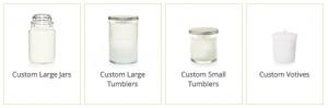 Custom Yankee Candle Sizes