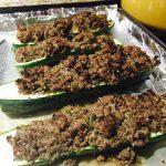 Relay Foods Bison Stuffed Zucchini