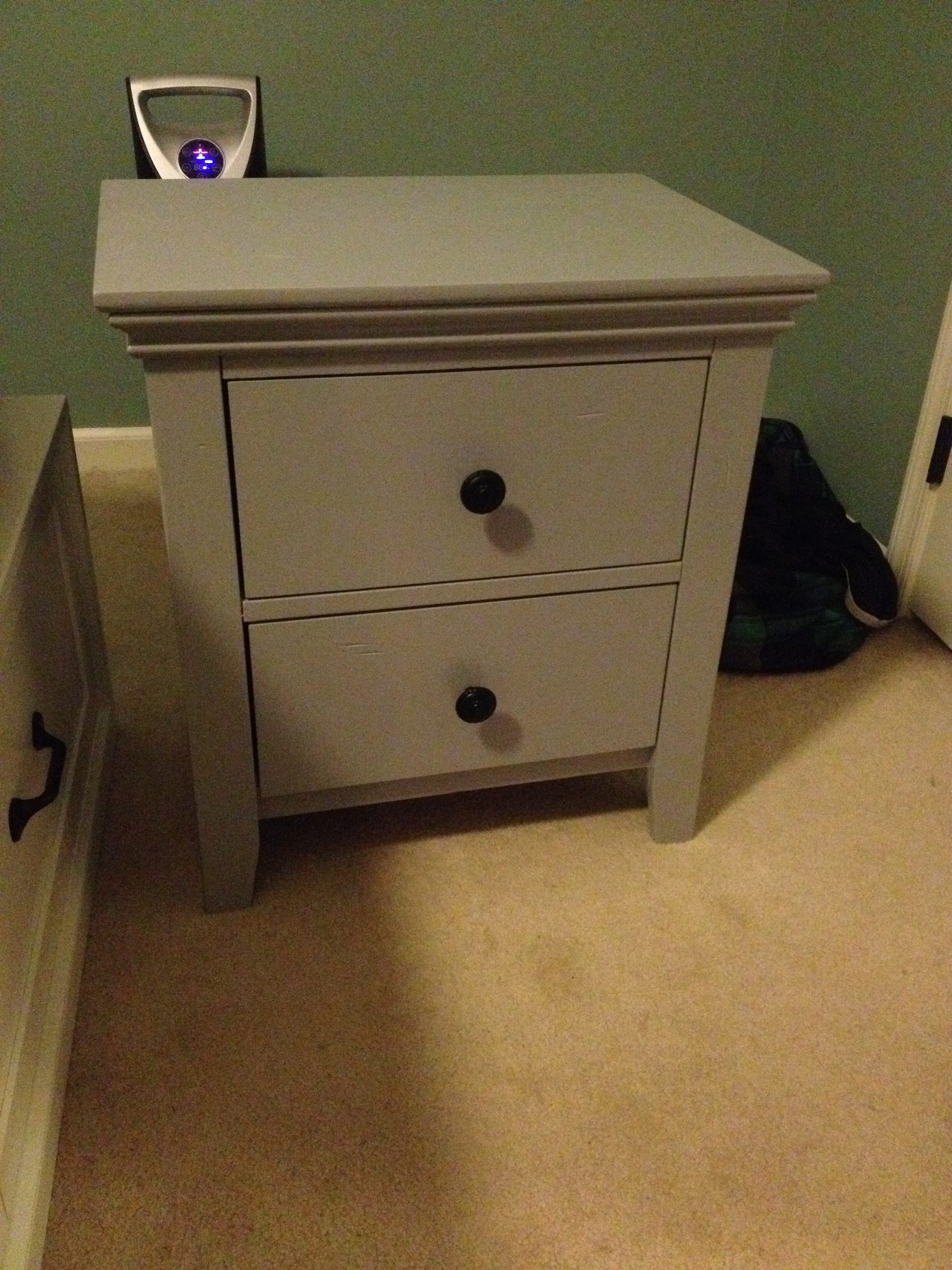Nightstands Painted Gray