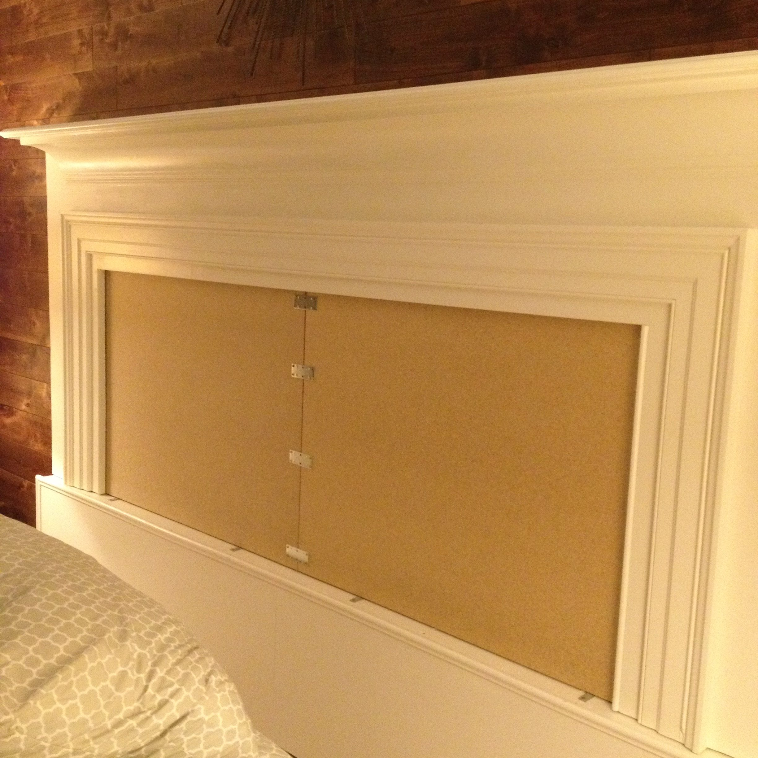 Backer to Mantel-Turned-Headboard