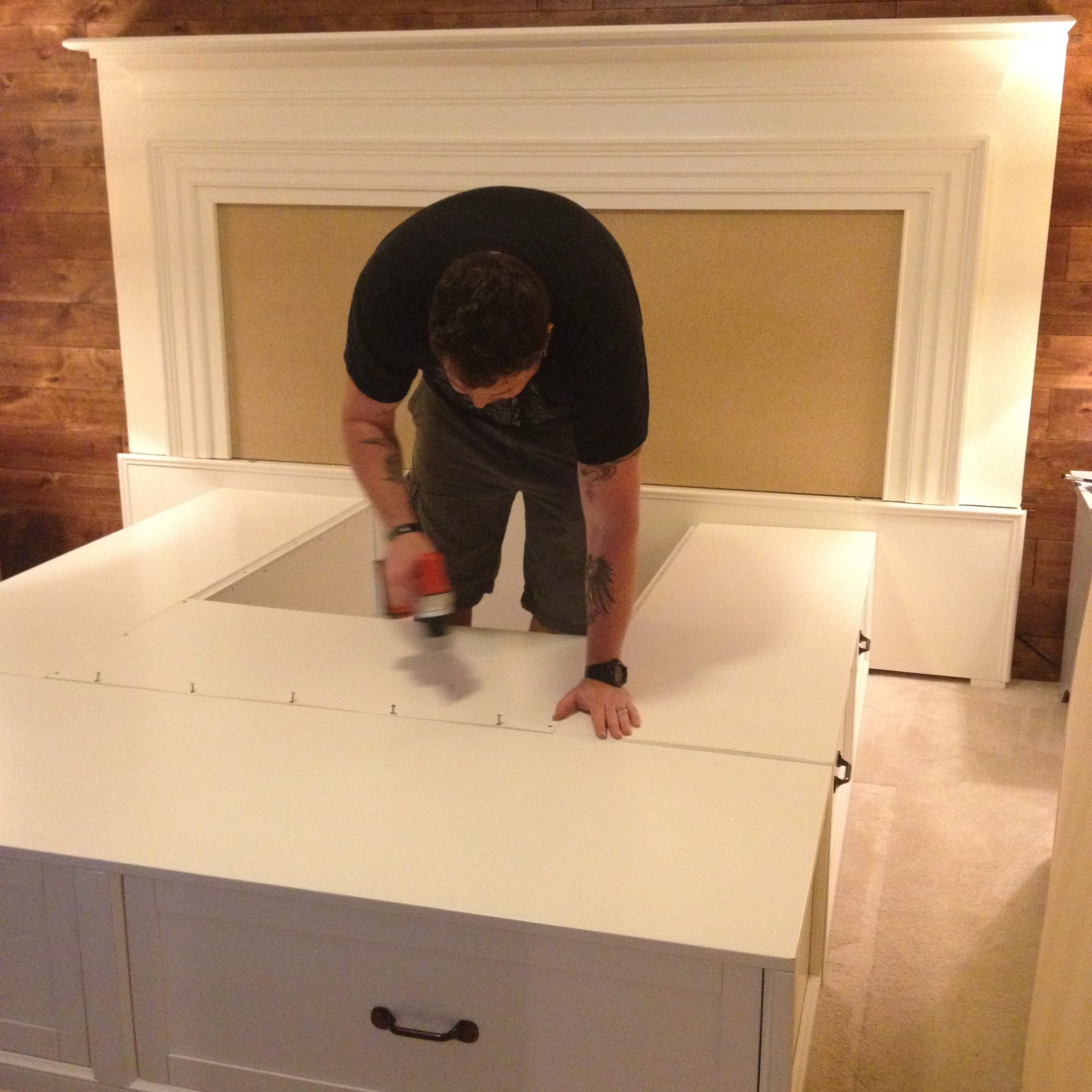 Assembling the Bed with Drawers Base
