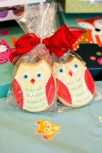 Baby Shower Touche Touchet Owl Cookie