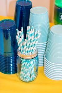 Baby Shower Aqua Straws