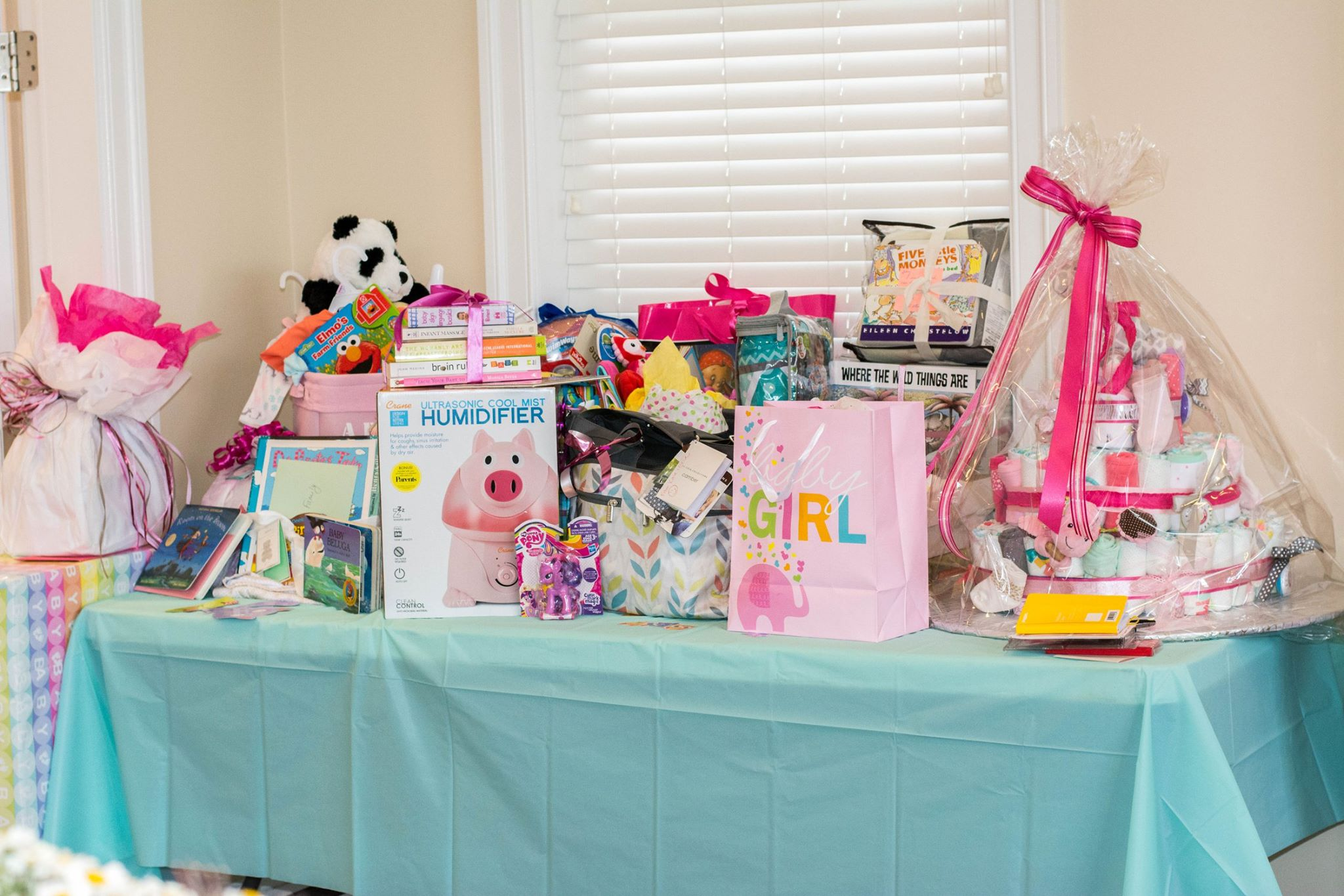 Baby Shower Gifts on Display