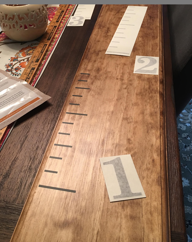 "Set of 1"" Ruler Marks in 12"" Strip Applied"