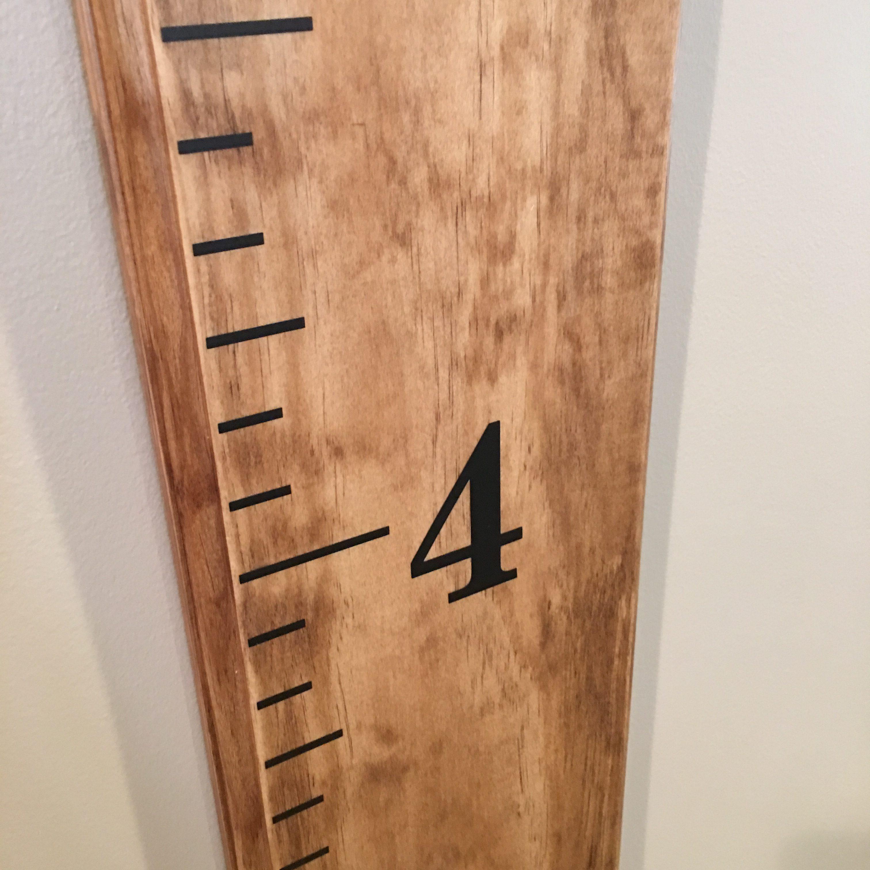 """Number 4 & 1"""" Ruler Marks"""