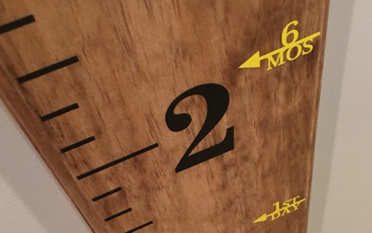 Etsy Order + DIY Project: Creating Our Family's Mobile Growth Chart