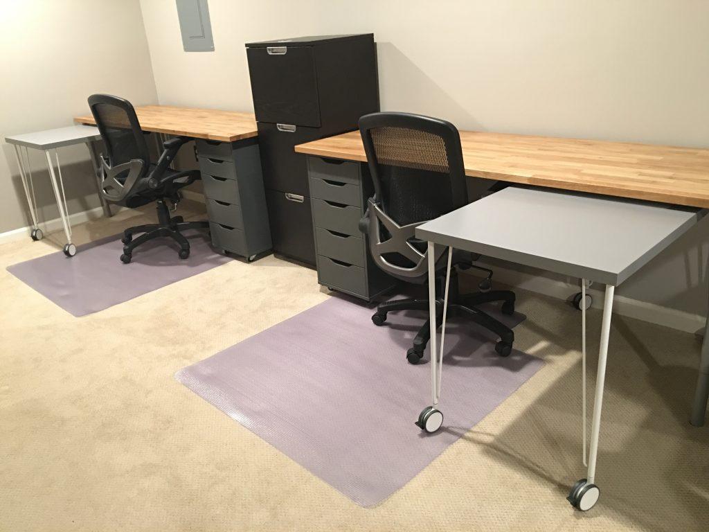 IKEA Hack Home Office Desk Complete