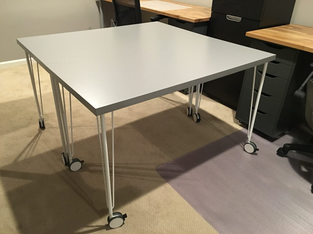IKEA Hack Makeshift Conference Table Using Side Tables