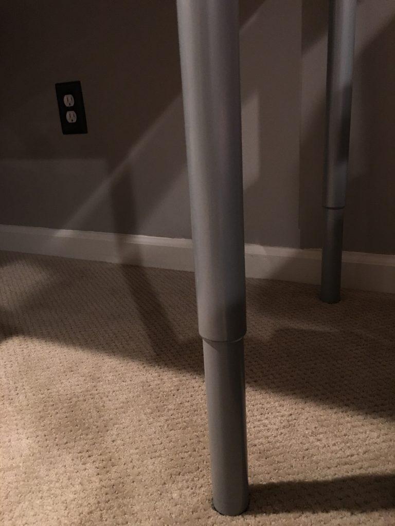 IKEA Hack OLOV Adjustable Height Table Legs