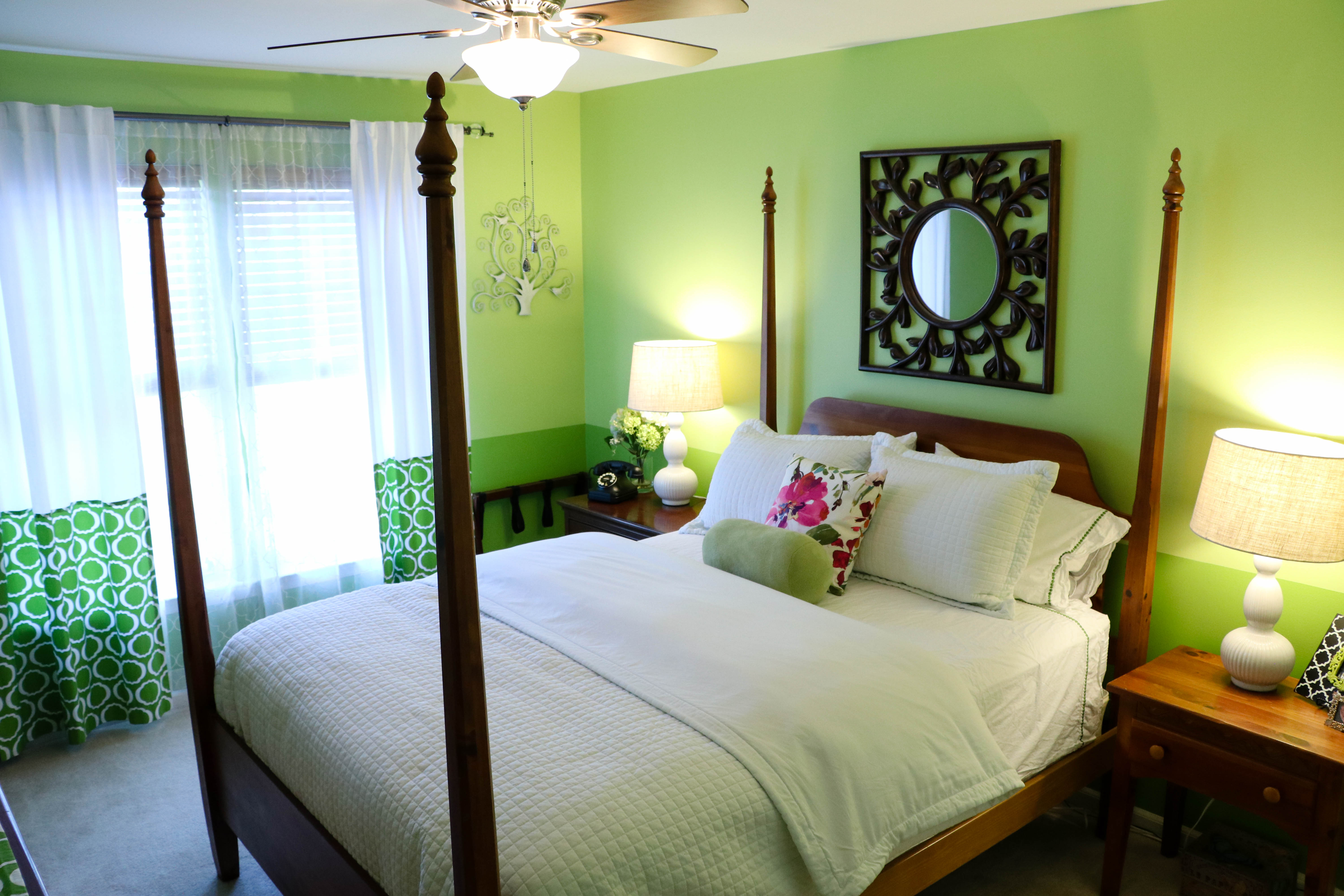 Our Green Guest Bedroom