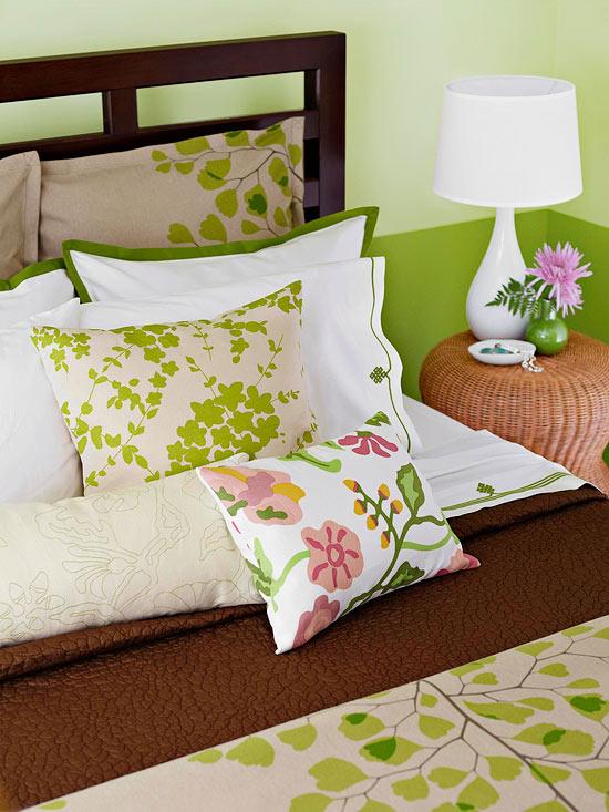 Better Homes & Gardens Green Bedroom Makeover