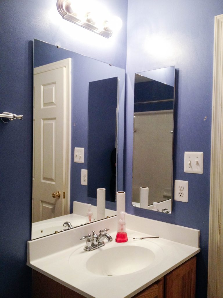 Before: Recessed, Mirrored Medicine Cabinet