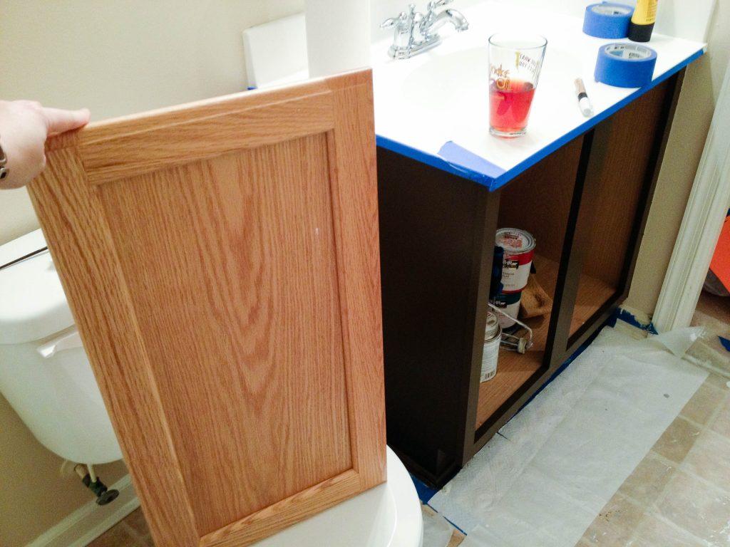 Guest Bathroom Vanity Repainting