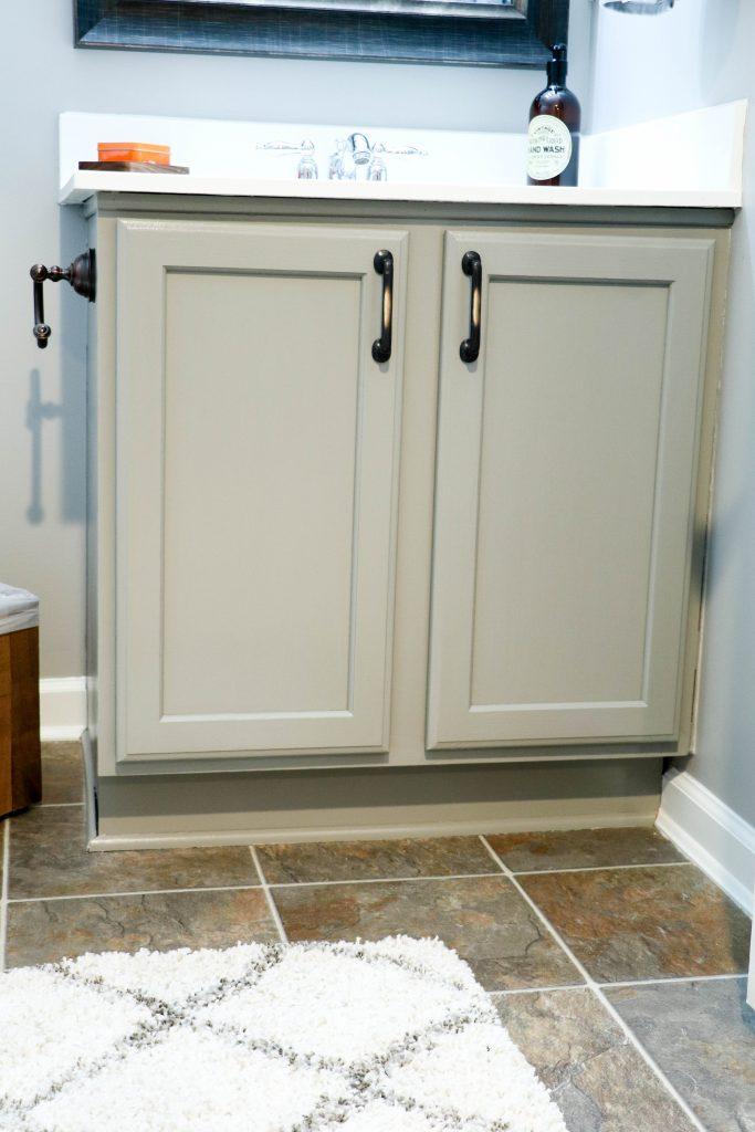 After: Painted Basement Bathroom Vanity