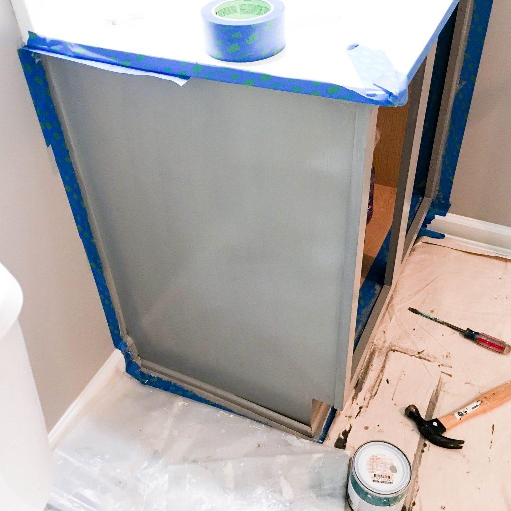 Basement Bathroom Vanity Repainting