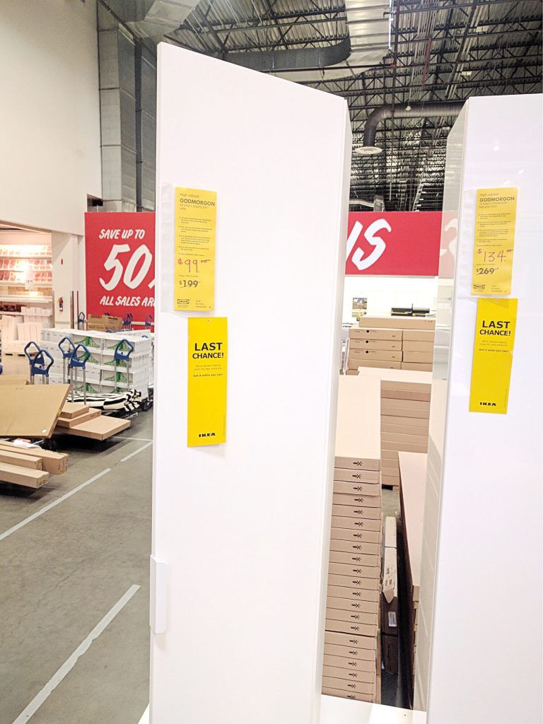 IKEA Last Chance GODMORGON Cabinets