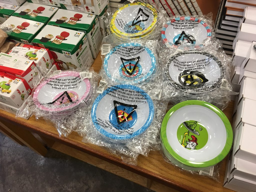 Children's Dining Bowls at Daedalus Book Warehouse