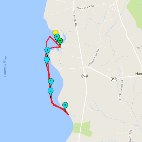 Mallows Bay Route Map