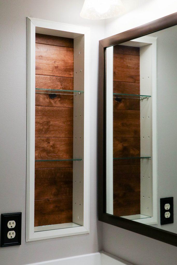Replacing Bathroom Medicine Cabinet With Open Air Shelf